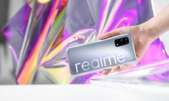 The Realme V5 Featuring a Punch Hole Display