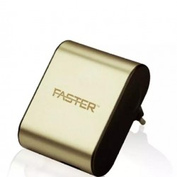 2.4A Type-C Usb Port Travel Charger - Gold