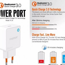 FASTER FC-51 Power Port Huawei And Vooc Qualcomm Quick Charge- Type-C