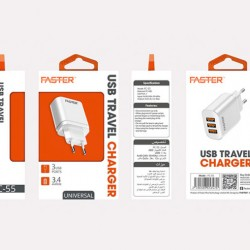 FASTER FC-55 USB 3 Ports Travel Charger 3.4A