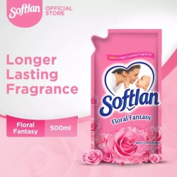 Softlan 500ml Pouch Floral Fantasy - Fabric Conditioner