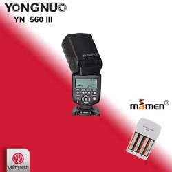 Yongnuo YN560 III Flash with Mamen 4 x Cell and Charger