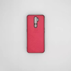 Oppo A9 2020 Luxury Design Matte Red Cover
