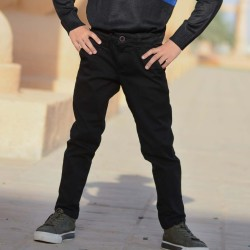 Black Chino Cotton Pants