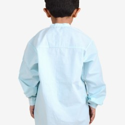 Cotton Casual Sea Green Kids Shirt