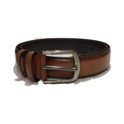 brown-Leather Belt with Anti-Scratch Pin Buckle,Great for Jeans,Casual,Cowboy & Work Wear