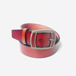 Genuine Leather Pin Buckle Belt For Men