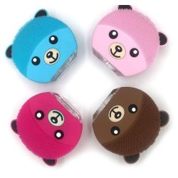 Bear Face Cleansing Brush Silicone Vibrating Facial Massager