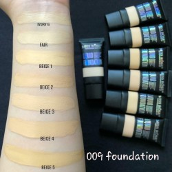 9 Shades Miss Rose Liquid Foundation Tube for Professional makeup