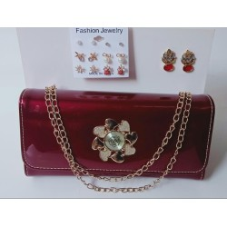 DEAL PACK OF 2 HANDBAG WITH EARRINGS