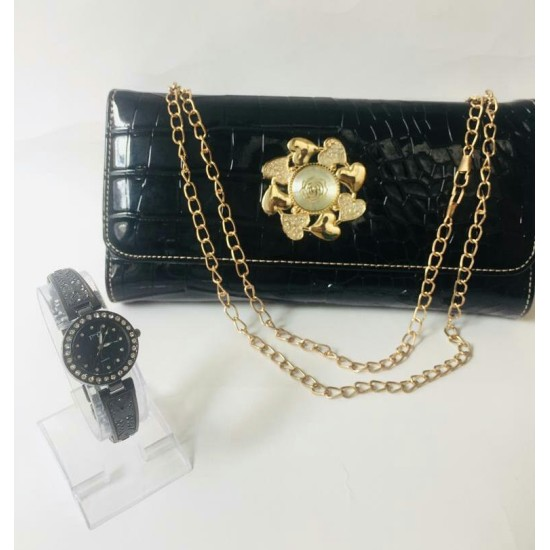 Deal Pack of 2 Handbag with Stylish Watch
