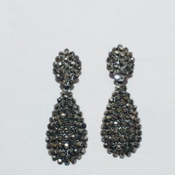 Antique Black Stalish Earing Hang style with black stone