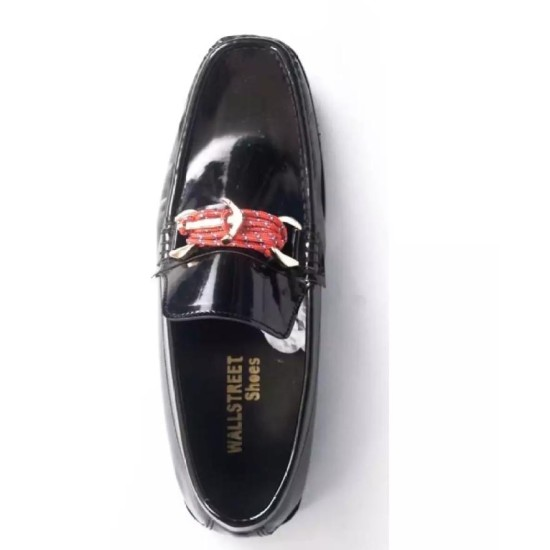 Black Classes Shoes for Men with Free Black Hand Wrist Band