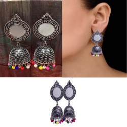 Antique silver Tribal Traditional Jhumka Earrings