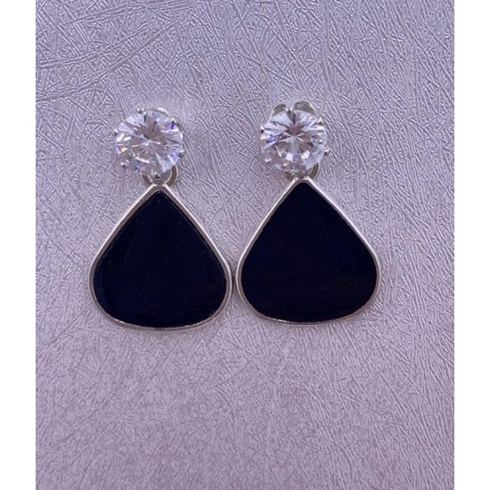 Black Stud Trendy Earring