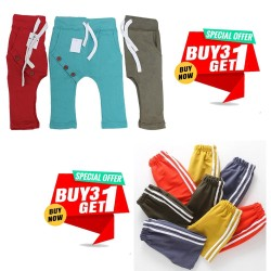 Buy 1 Deal of 3 Trouser And Get 1 Linning Trouser Free
