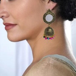 Antique Golden Tribal Traditional Jhumka Earrings