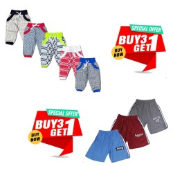 Buy 1 Deal Of 3 shorts And Get 1 Short Free