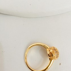 Golden Ring With Zircon Stone For Women