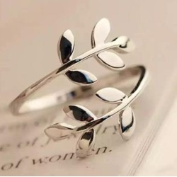 Silver Plated Adjustable Girls Ring Best Gift for Lovers