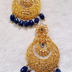 Artificial gold color earring for women