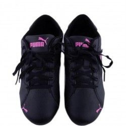 Puma Leather Lifestyle Shoes For Girls  Black & White
