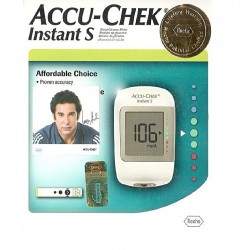 Accu-Chek Gluco Meter Instant-S + 10 Strips with Lifetime Warranty