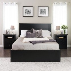 LAMINATED BED WITH 2 SIDE TABLES
