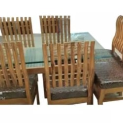 PURE SOLID WOOD DINING TABLE WITH 4-CHAIRS