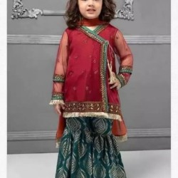 Embroiderer Chiffon Kid's Suit