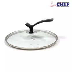 CHEF Glass Lid With Handle – 32 Cm
