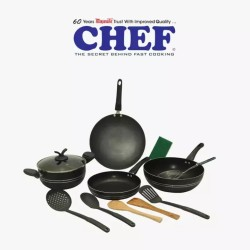 Chef Non Stick Cookware Set 12 Piece NS 338