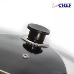 Chef 28 cm Non Stick Karahi with Glass Lid