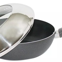 CHEF Cookware Non Stick 24 cm Deep Frying Pan with Combine Lid