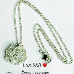 Crystal Rose Pendant With Chain