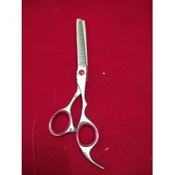 """440C Japanese Steel New Professional Hairdressing Scissors Thinning Set / Scissors (7 """") Free Leather Case"""