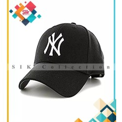 Black Cotton Baseball Caps Adjustable For Men