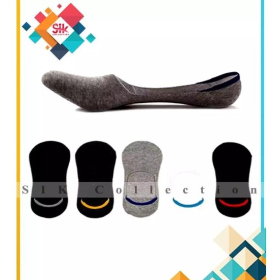 Pack of 3 - Loafer Cotton Imported Low Cut Non Slip Socks For Men