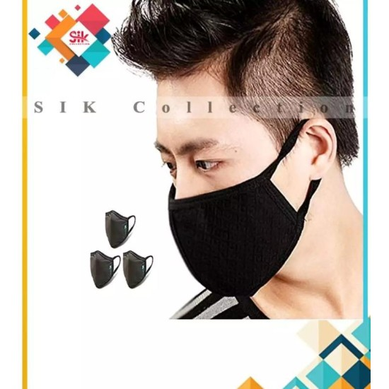 Pack of 3 - Imported Anti Dust Face Mouth - Nose Mask For Men