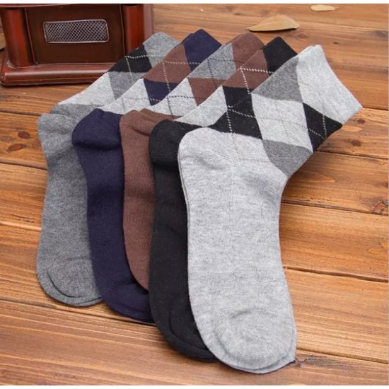 06 Pairs - Exported Cotton Crew Winter Socks for Men