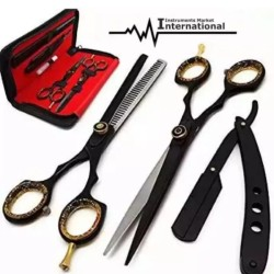 Professional Salon Hairdressing Hair Cutting Thinning Barber Scissors and Razor