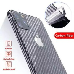 Apple iPhone 11 Carbon Fiber Back Anti Fingerprint Sheet Skin Wrap Transparent