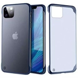 Apple iPhone 11 Pro Max Luxury Frameless Transparent Matte Back Cover With Finger Ring