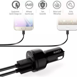 Aukey 36W Dual Port Qualcomm Quick Charge 3.0 Car Charger (CC-T8)