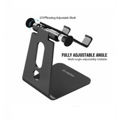 Aluminum Multi-Angle Universal Mobile And Tablet Holder - Black