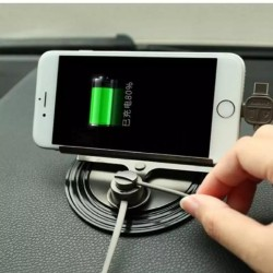 Magnetic Car Charging Holder - Black