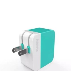 1 PC Dual Port USB Charger - White