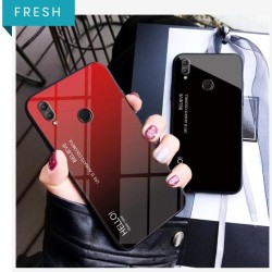 Honor 8x Cover Shockproof 6D Tempered Glass Gradient Back Cover